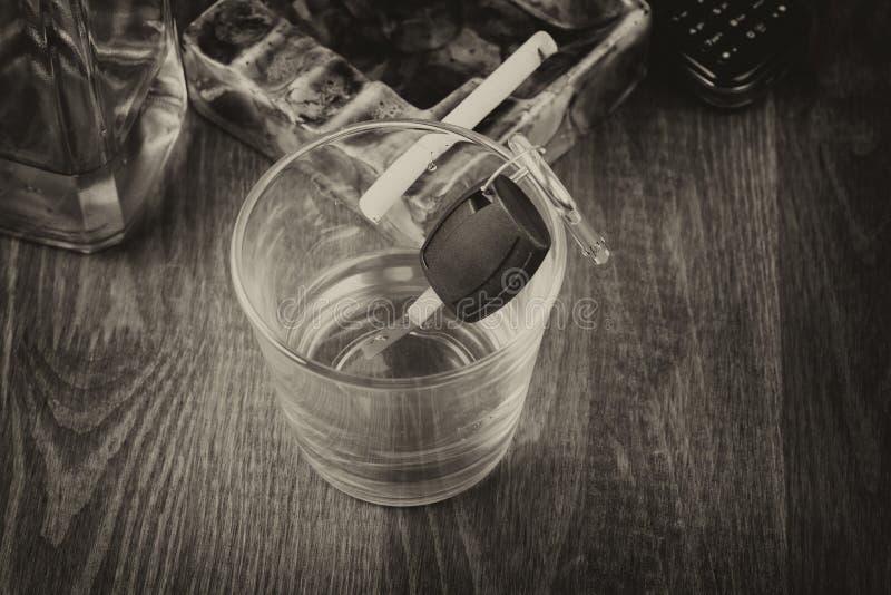 Alkohol bil, tangenter, tragedi arkivfoton