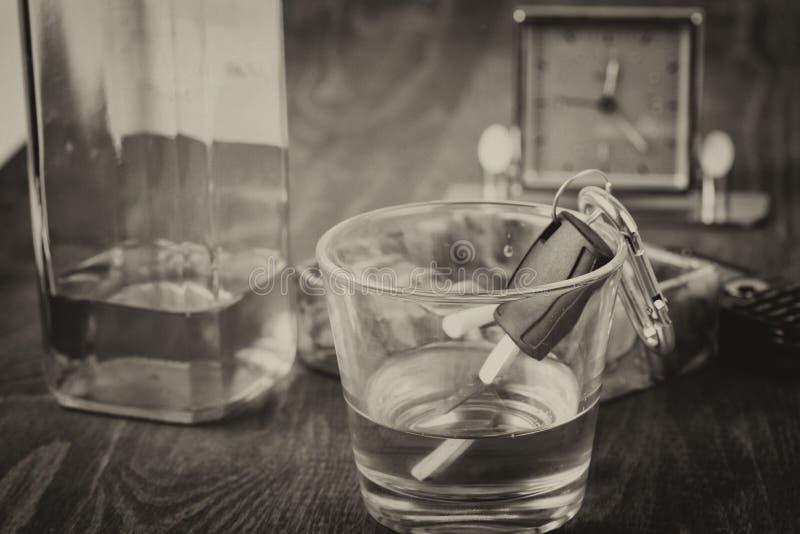 Alkohol bil, tangenter, tragedi royaltyfri foto