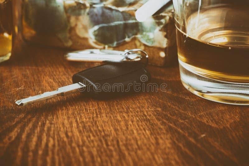 Alkohol bil, tangenter, tragedi royaltyfria foton