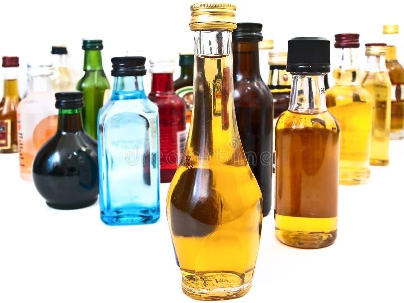 alkohol butelki zdjęcia stock