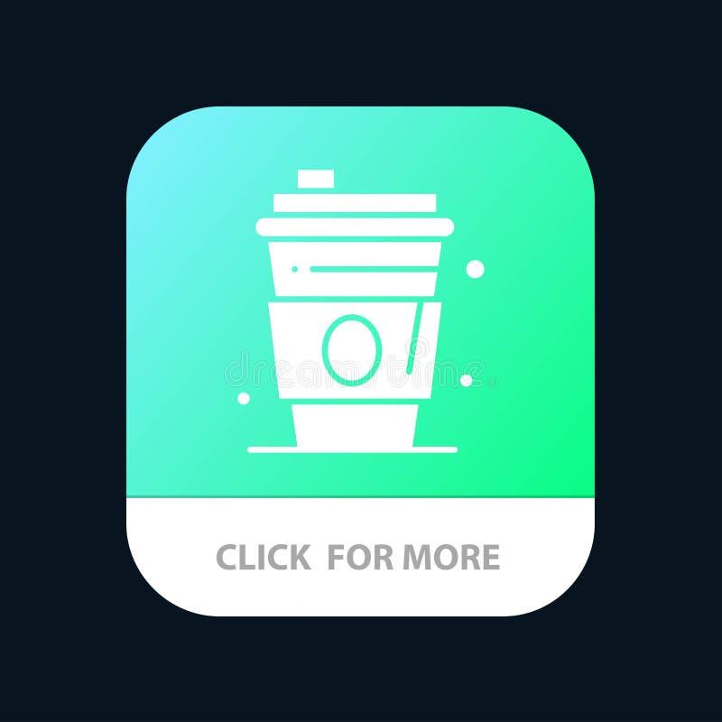 Alkohol drink, fruktsaft, mobil Appknapp för USA Android och IOS-skåraversion stock illustrationer