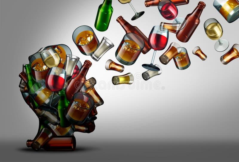 Alkohol edukacja i świadomość royalty ilustracja