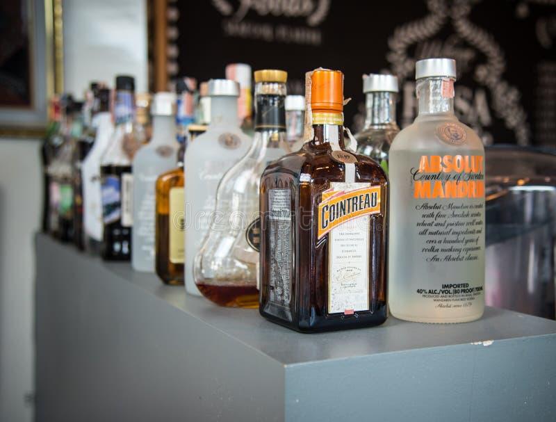 Alkohol i trunek fotografia stock