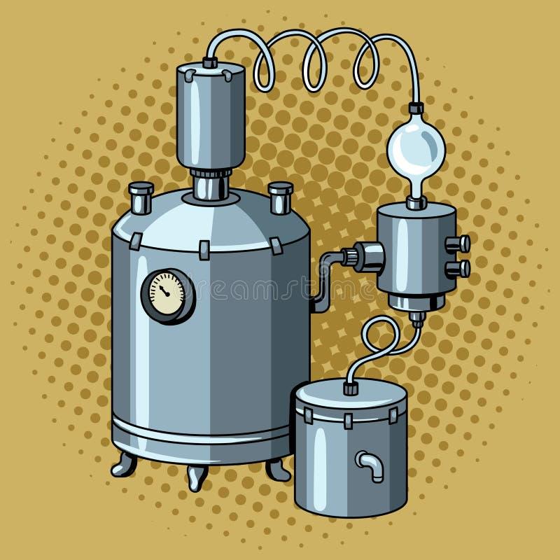 Alkohol mashine Pop-Arten-Vektorillustration vektor abbildung