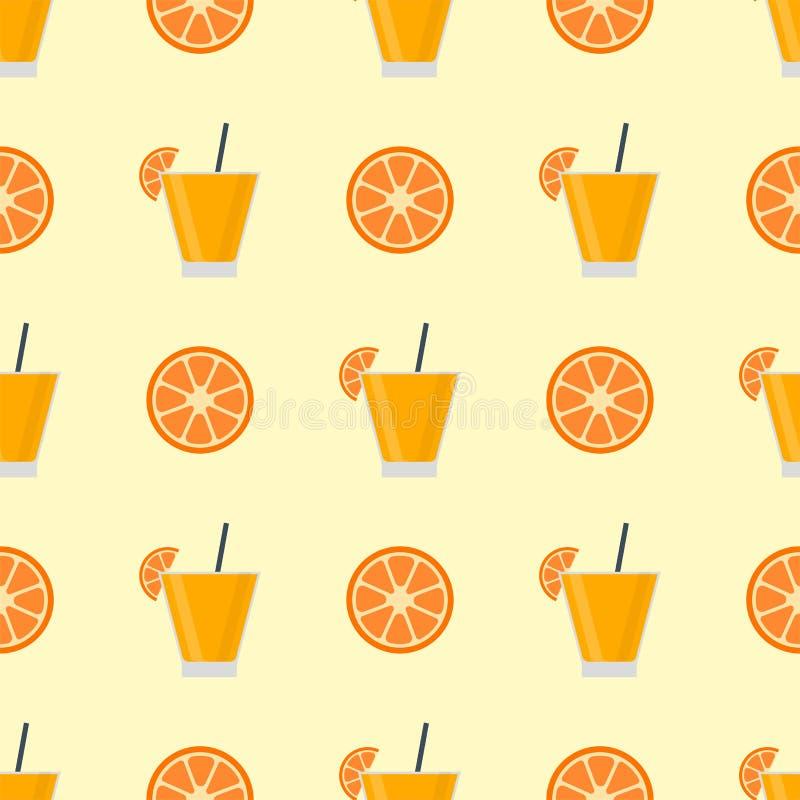 Alkohol pije napoju koktajlu bezszwowego wzór royalty ilustracja