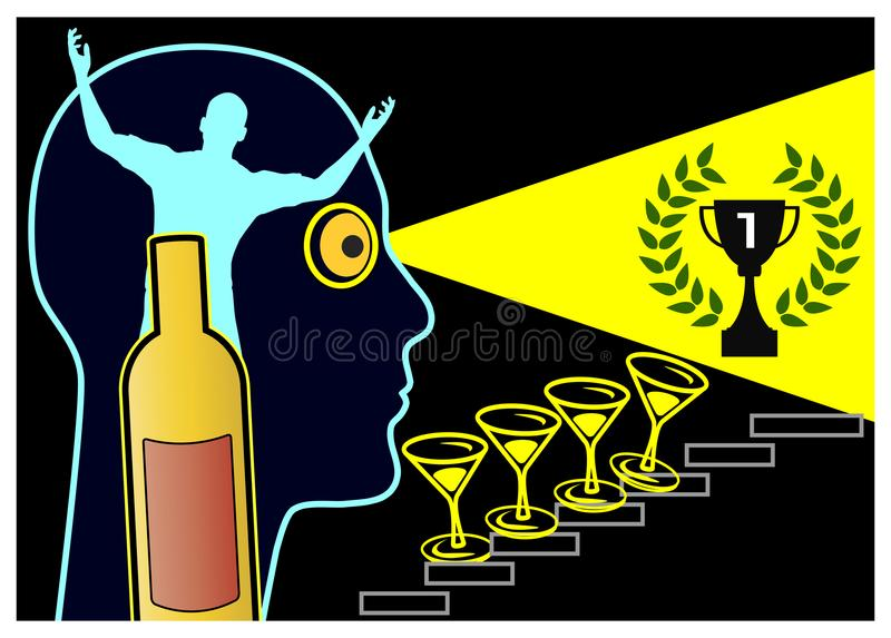Alkohol und Grandiosity lizenzfreie abbildung