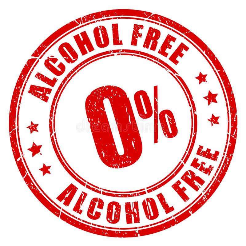 Alkohol uwalnia pieczątkę royalty ilustracja