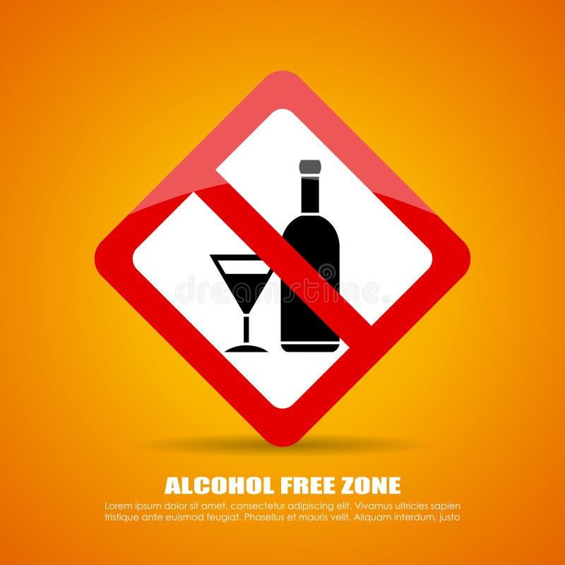 Alkohol wolna strefa ilustracja wektor