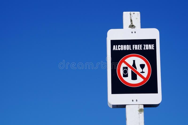 Alkohol wolnej strefy znak obraz royalty free