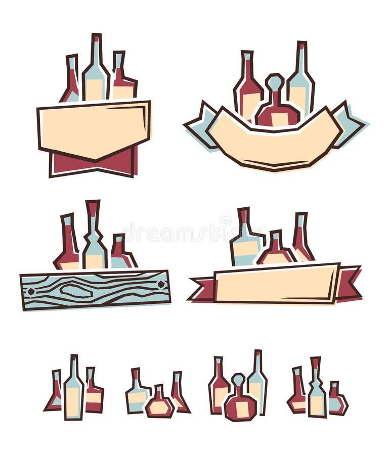 Alkoholaufkleber vektor abbildung