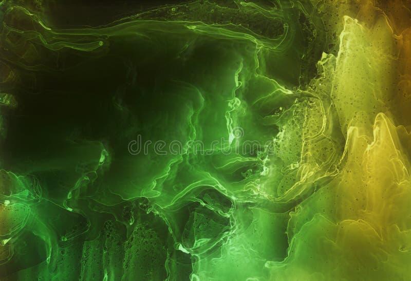 Alkoholf?rgpulver, akryl, f?rgrik abstrakt bakgrund f?r vattenf?rg arkivfoto
