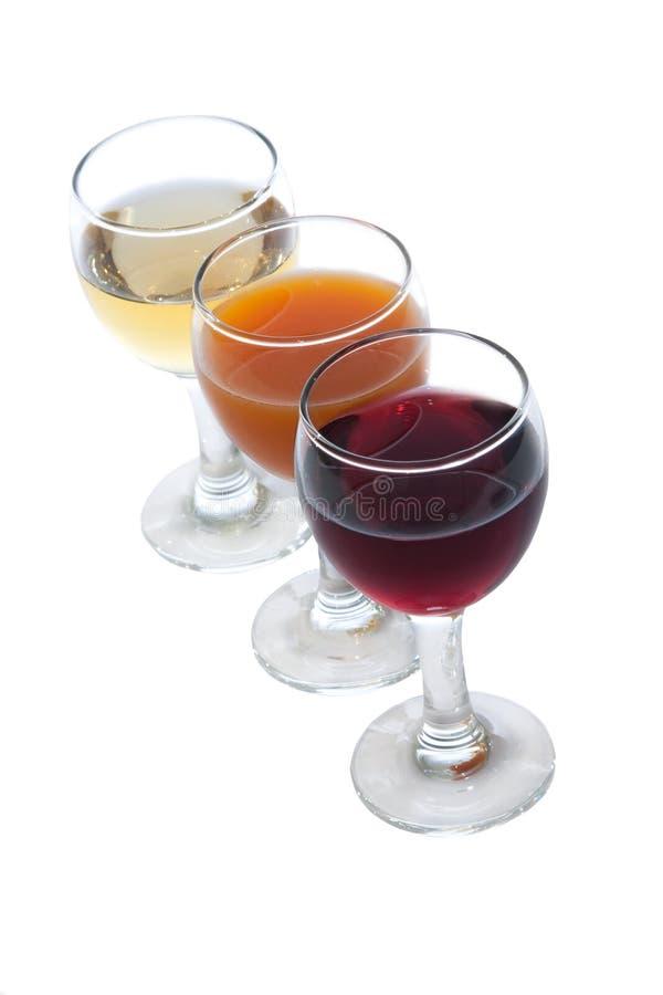 Alkoholgläser lizenzfreie stockbilder