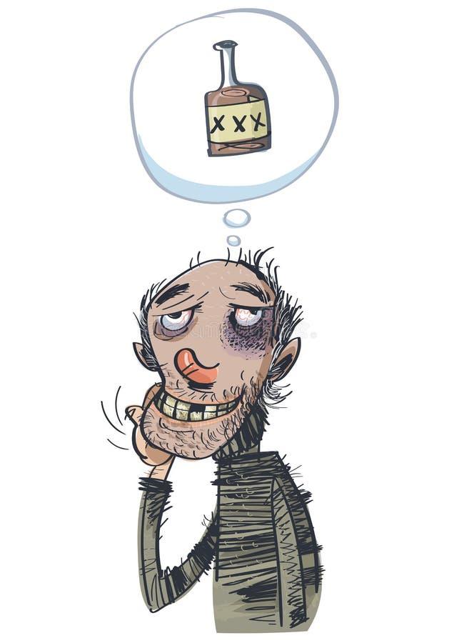 Alkoholiczni sen również zwrócić corel ilustracji wektora EPS10 ilustracja wektor