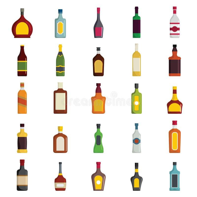 Alkoholicznych napojów butelek wektoru Wielki set ilustracja wektor