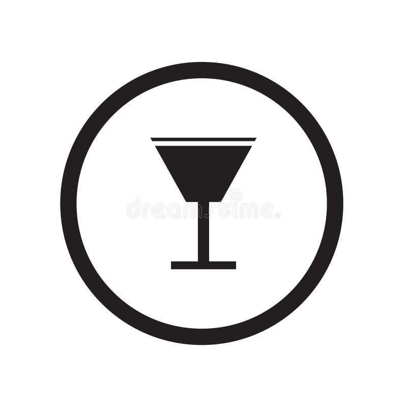 Alkoholicznych napojów ikony wektoru znak i symbol odizolowywający na białym tle, Alkoholicznych napojów logo pojęcie ilustracji