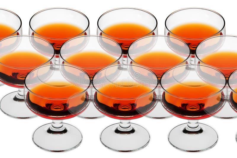 Alkoholische Getränke stockbild