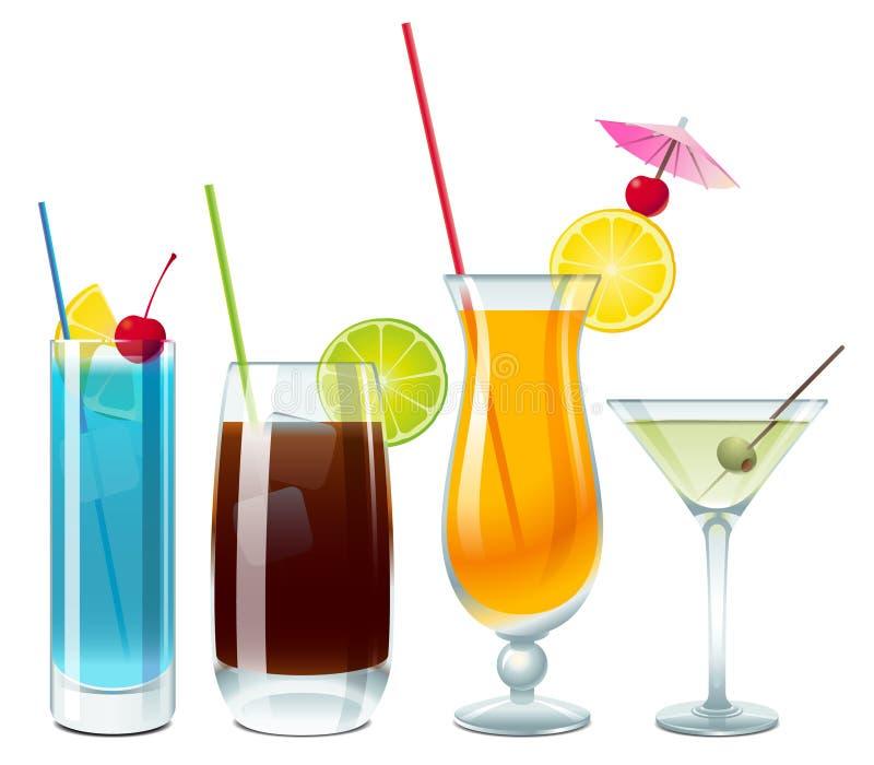 Alkoholische Getränke für Party stock abbildung