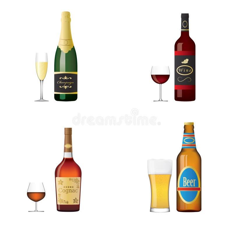 Alkoholisches Getränk lizenzfreie abbildung