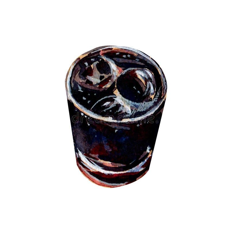 Alkoholisches Getränk Rum und Kolabaum Kuba libre stock abbildung