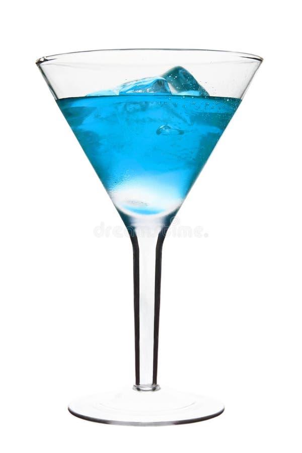 alkoholiserad blå coctail royaltyfri foto
