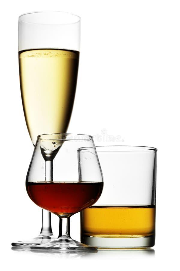 alkoholiserada drycker royaltyfria bilder