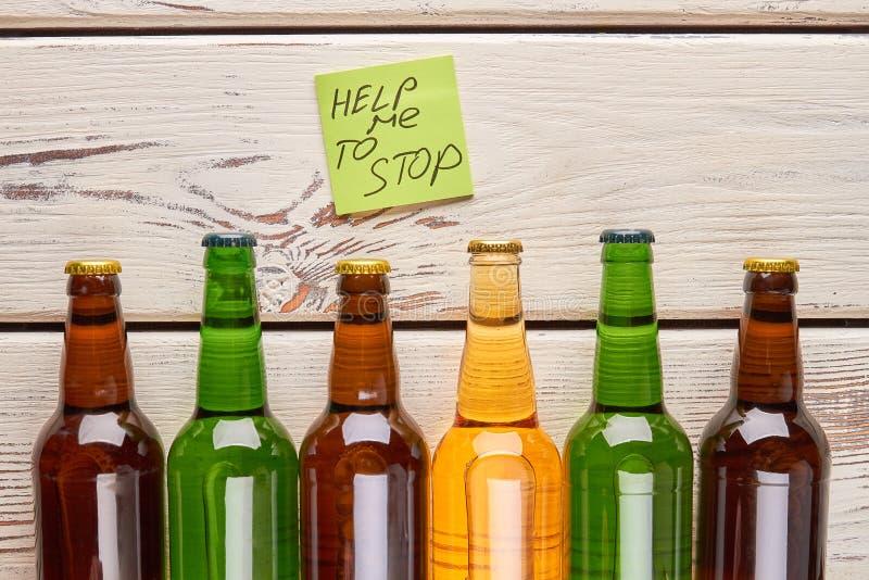 Alkoholismbehandlingbegrepp royaltyfri bild