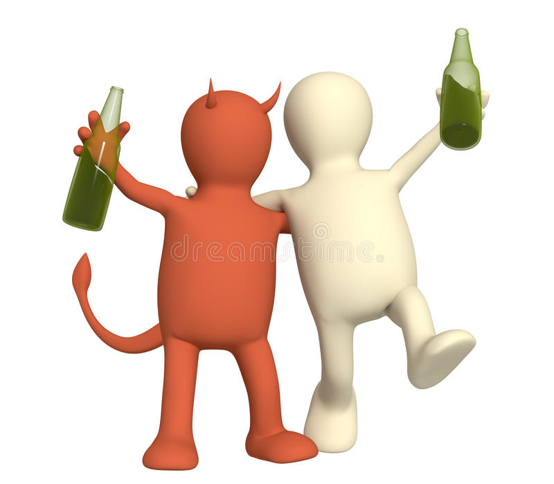 alkoholismskada vektor illustrationer