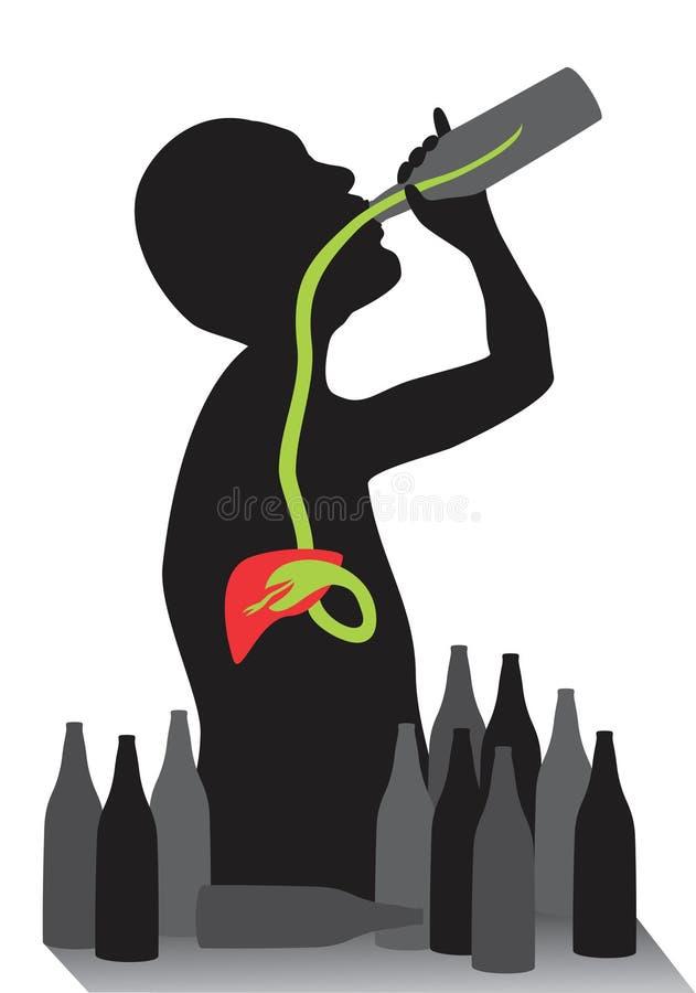 alkoholizm ilustracji