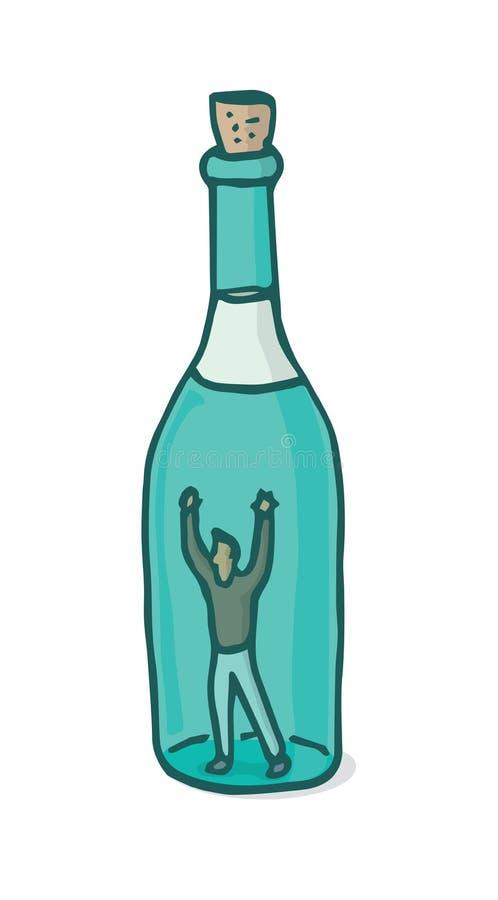 Alkoholizm jako ogromny oklepiec ilustracji