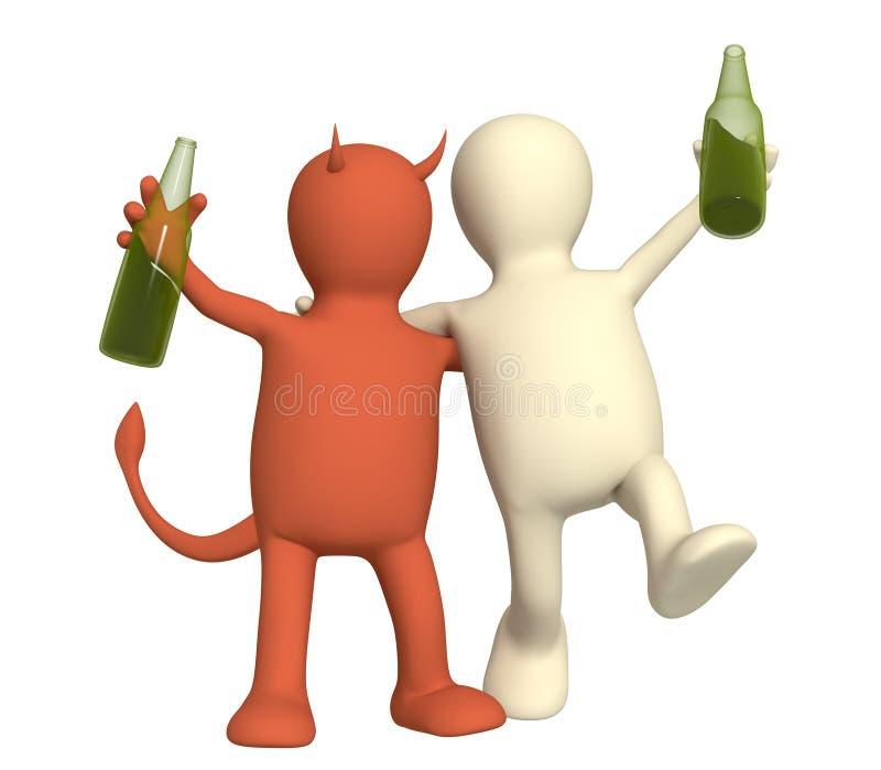 alkoholizm krzywda ilustracja wektor