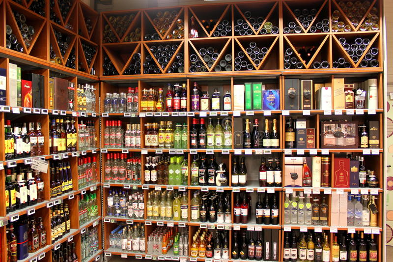 Alkohollager arkivfoton