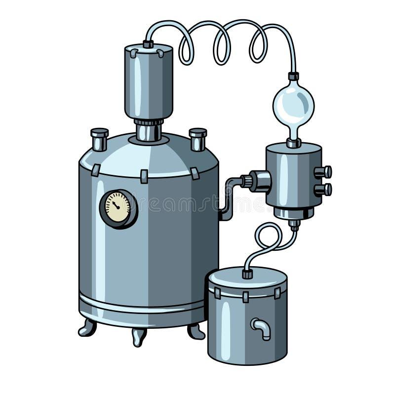 Alkoholmaschinenpop-arten-Vektorillustration vektor abbildung