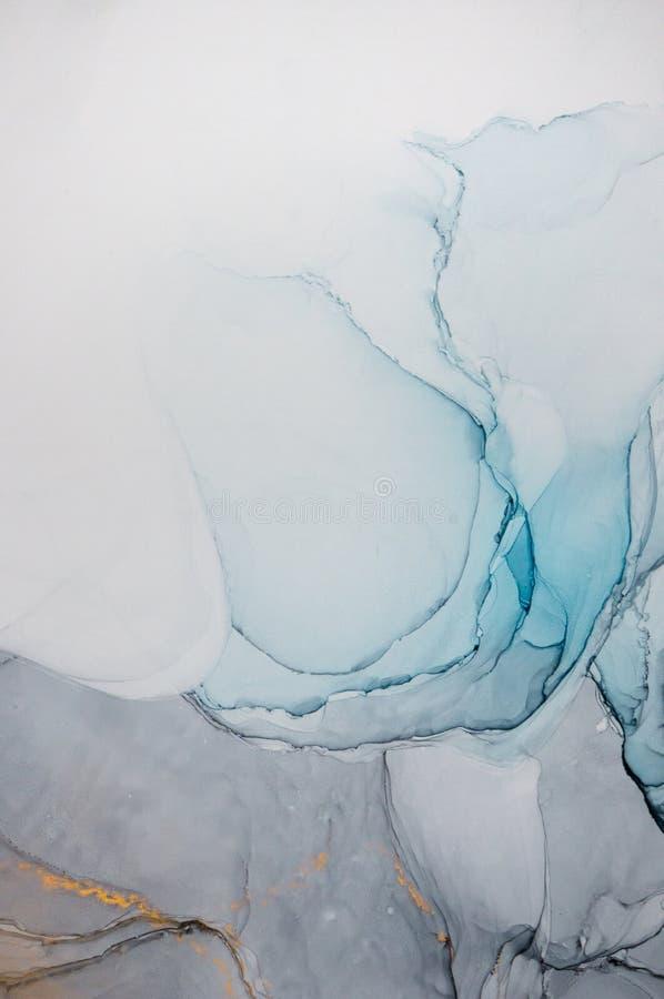 Alkoholtinte, abstrakte Malerei lizenzfreie stockbilder