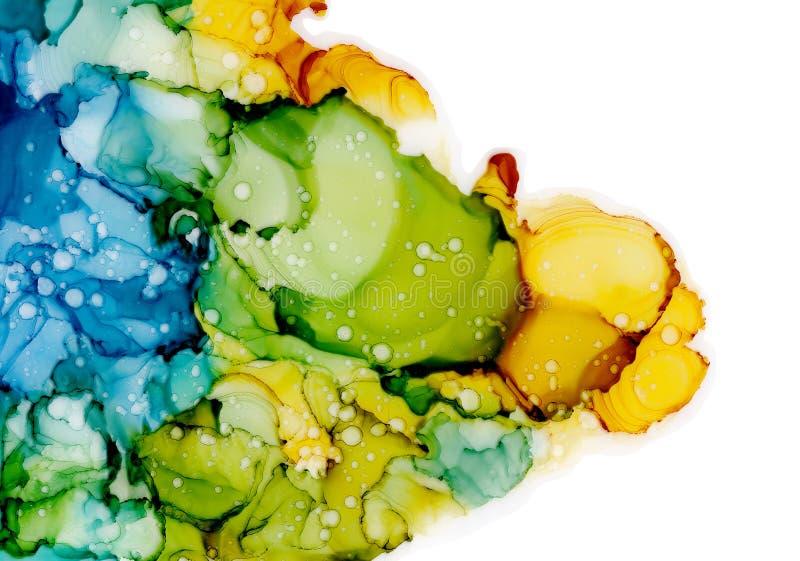 Alkoholtintenbeschaffenheit Flüssiger Tintenzusammenfassungshintergrund Kunst für Design lizenzfreie abbildung