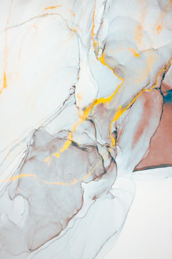 Alkoholu atrament, abstrakcjonistyczny obraz obraz stock