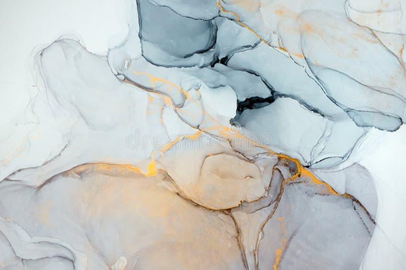Alkoholu atrament, abstrakcjonistyczny obraz obrazy stock