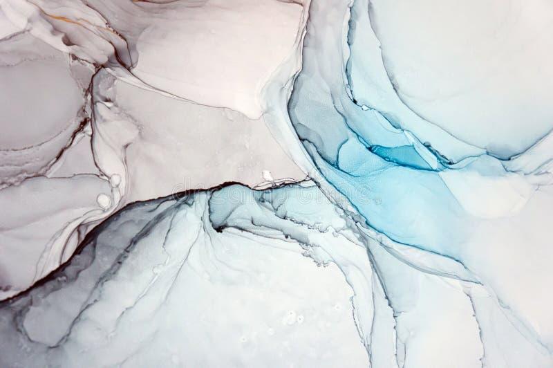 Alkoholu atrament, abstrakcjonistyczny obraz zdjęcie royalty free