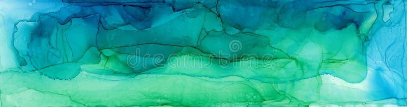 Alkoholu atramentu powietrza tekstura Rzadkopłynny atramentu abstrakta tło sztuka dla projekta ilustracji