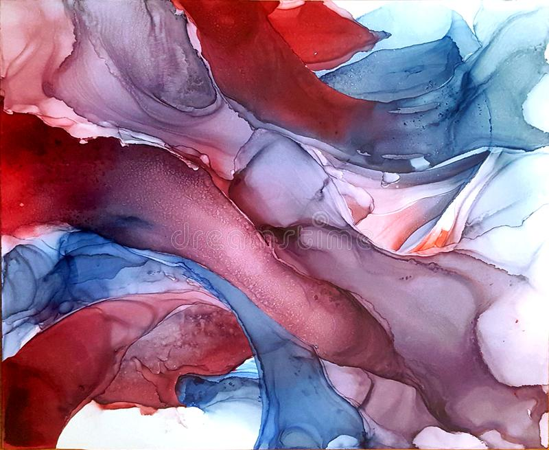 Alkoholu atramentu tekstura Rzadkop?ynny atramentu abstrakta t?o sztuka dla projekta sztuka dla projekta przejrzysta twórczość zdjęcia stock