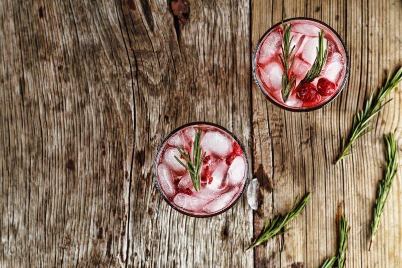 Alkoholu koktajl z rozmarynami obrazy stock
