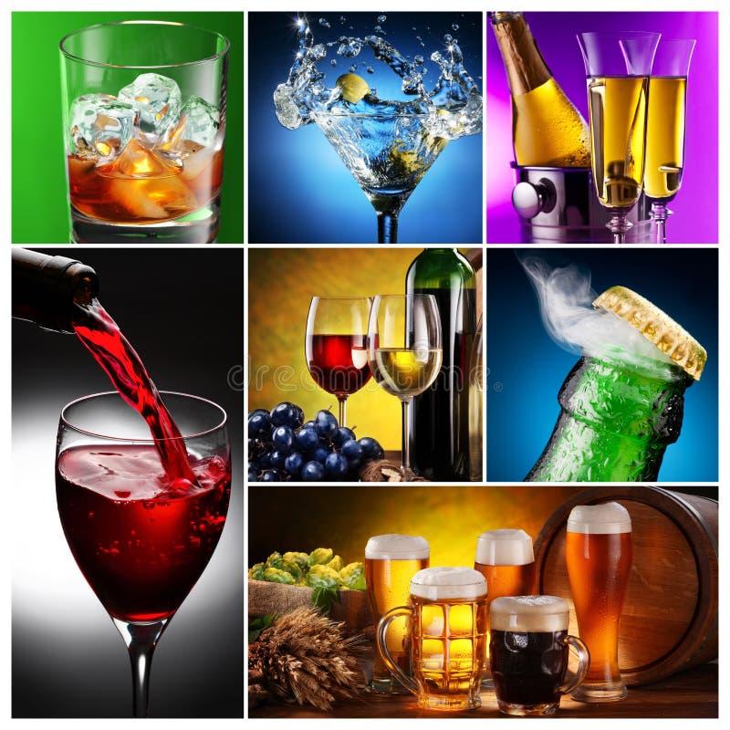 alkoholu kolekci wizerunki fotografia royalty free