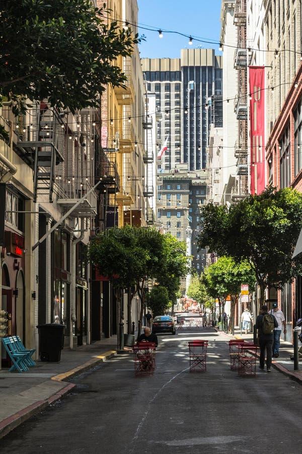 Allée à San Francisco, la Californie photographie stock libre de droits