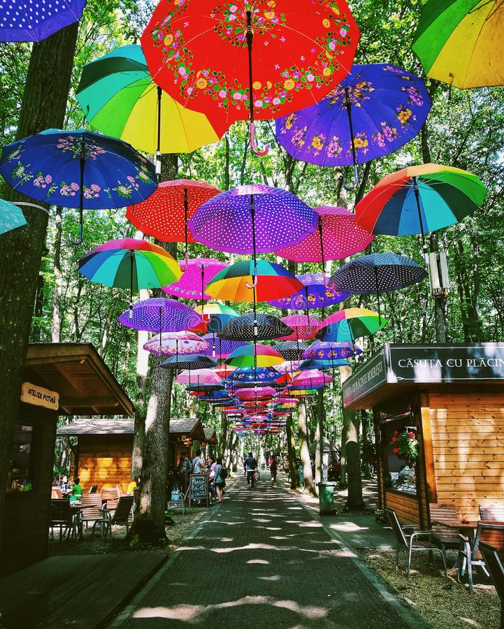 Allée colorée dans Edenland photos stock