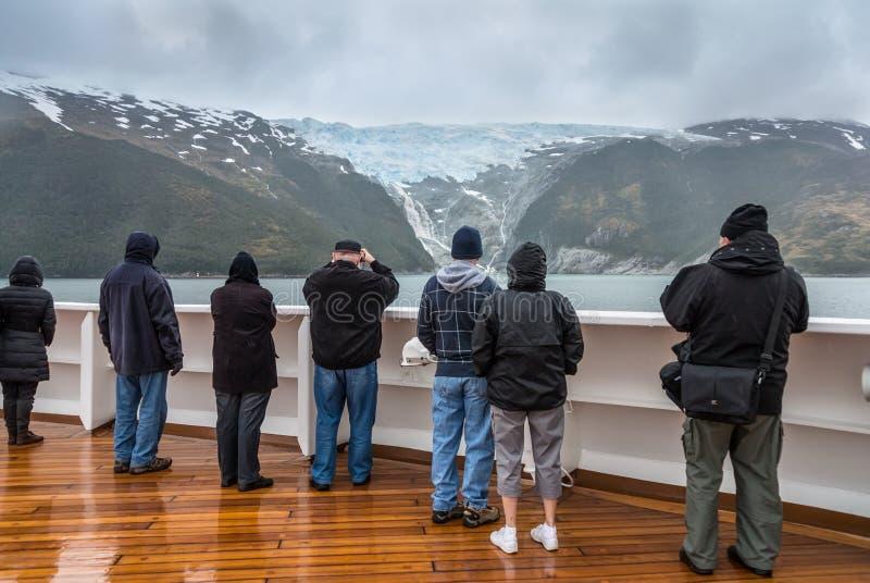 Allée de glacier, la Manche de briquet, Chili image libre de droits