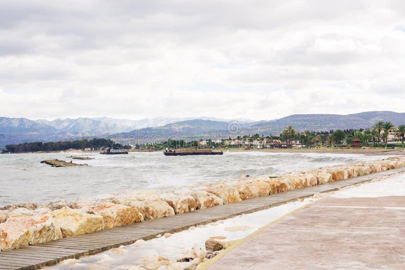Allée de promenade, bord de mer photo libre de droits