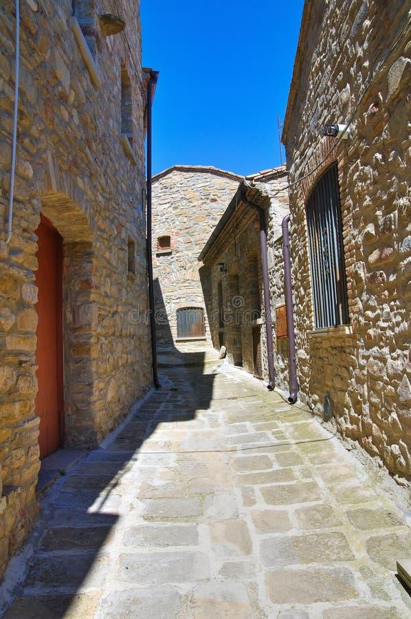 allée Guardia Perticara Basilicate l'Italie image libre de droits