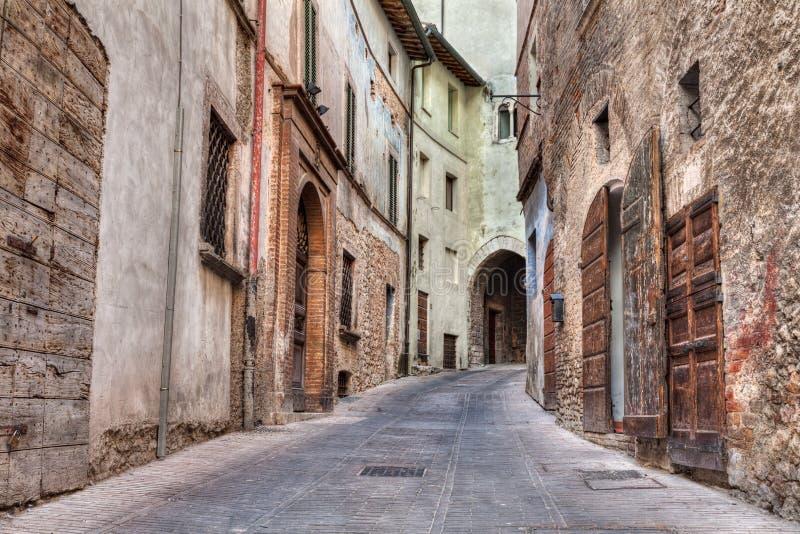 Allée italienne antique image libre de droits