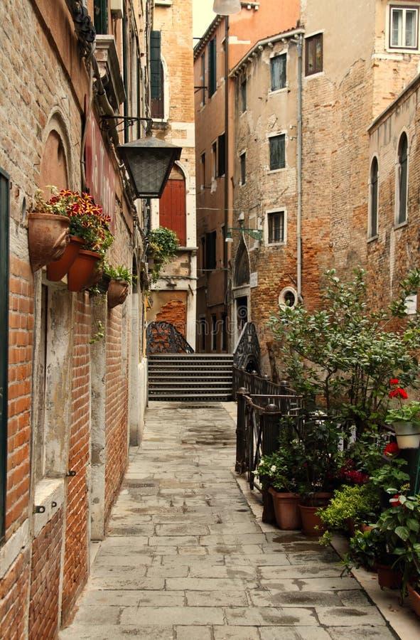 Allée tranquille de Venise photo libre de droits