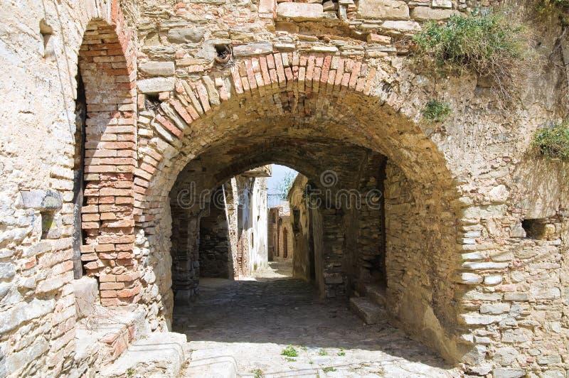 Allée. Tursi. Basilicate. L'Italie. image stock
