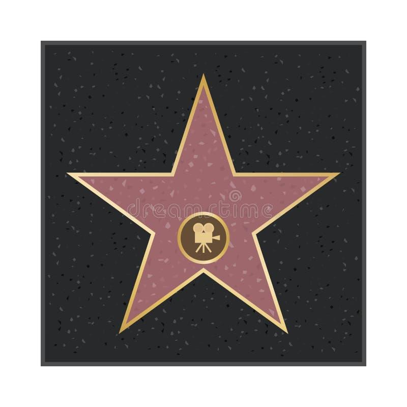 Allées d'étoile de la renommée de Hollywood Étoile de gloire illustration stock